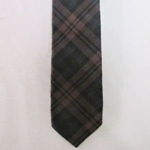 Topman Men's Narrow Velvet Plaid Tie